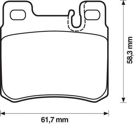 Колодки тормозные задние Jurid 571435J571435J