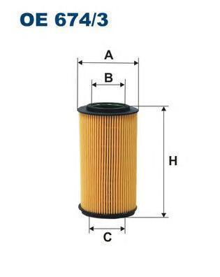 Фильтр масляный Filtron OE6743OE6743