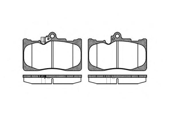 Колодки тормозные дисковые Remsa, комплект. 118002118002