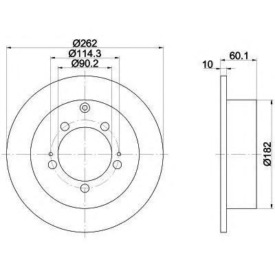 Диск тормозной задний Textar 92136103 комплект 2 шт92136103