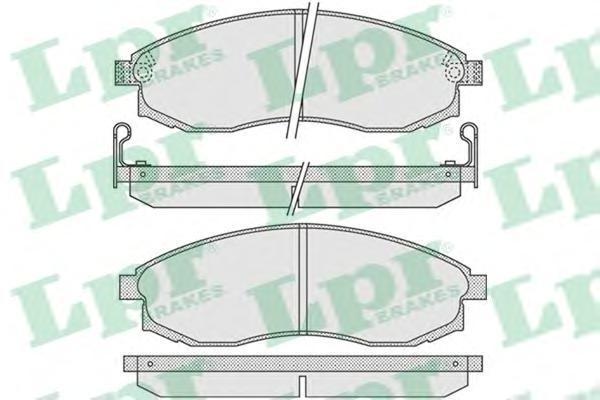 Колодки тормозные дисковые LPR / AP 05P103005P1030
