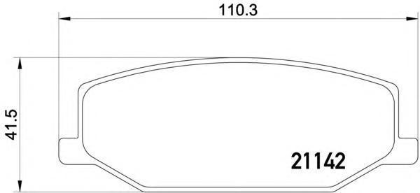 Колодки тормозные Textar 21142022114202