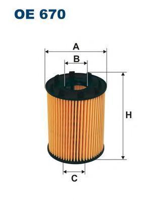 Фильтр масляный Filtron OE670OE670