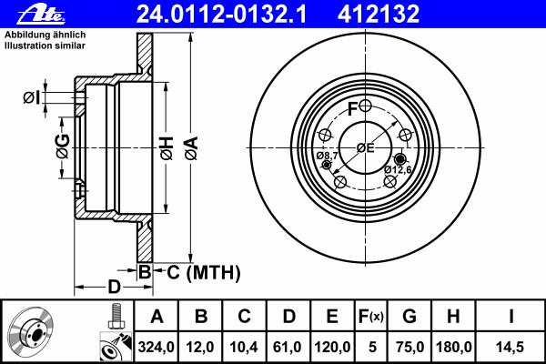 Диск тормозной Ate 24011201321 комплект 2 шт24011201321