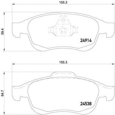 Колодки тормозные передние Textar 24914012491401