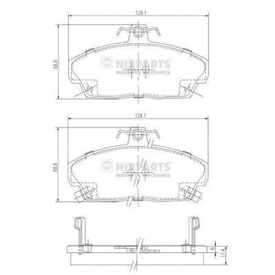 Колодки тормозные передние Nipparts J3604031J3604031