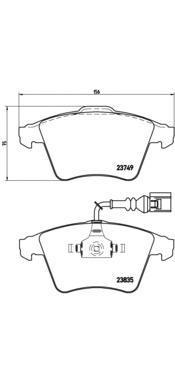 Колодки тормозные передние Brembo P85090P85090