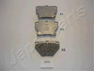 Колодки тормозные дисковые Japanparts PP203AFPP203AF
