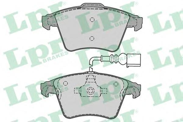 Колодки тормозные LPR / AP 05P128505P1285