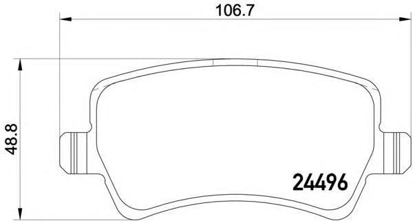 Колодки тормозные дисковые, комплект BEHR-HELLA 8DB3550129418DB355012941
