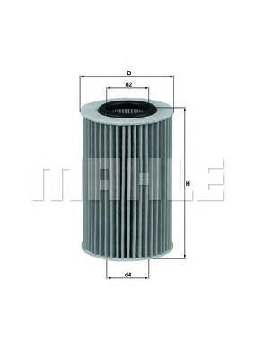 Фильтр масляный Mahle/Knecht OX436DOX436D