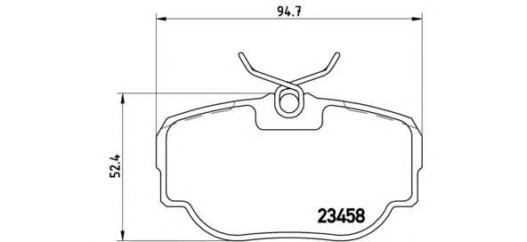 Колодки тормозные задние Brembo P44009P44009