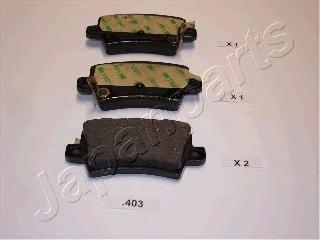 Колодки тормозные дисковые Japanparts PP403AFPP403AF