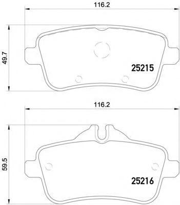 Колодки тормозные дисковые Textar 25215012521501