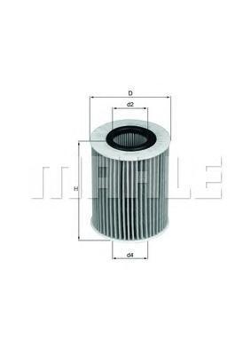 Фильтр масляный Mahle/Knecht OX437DOX437D