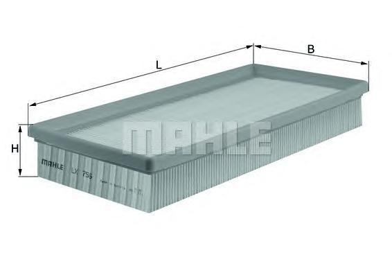 Фильтр воздушный Mahle/Knecht LX756LX756