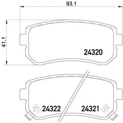 Колодки тормозные задние с датчиком Textar 24320012432001