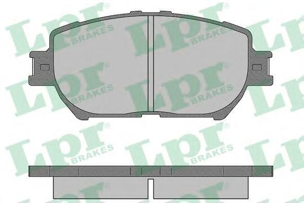 Колодки тормозные передние дисковые LPR / AP 05P136105P1361