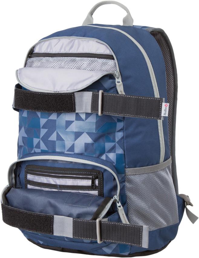 Рюкзак Red Fox Street V2, цвет: черный, синий, 25 л1054097Street 25 – стильный городской рюкзак среднего объема.- подвесная система Active- три отделения разного объема на молнии- мягкое отделение для ноутбука- смягчающая вставка на дне рюкзака- боковые стяжки- широкая мягкая ручка- органайзер- карабин для ключей- Назначение: повседневное городское использование- Материал: P450D- Объем, л: 25