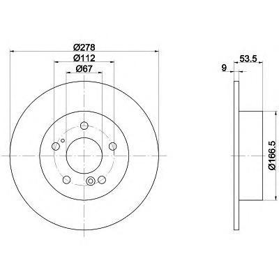 Диск тормозной задний Textar 9203270392032703