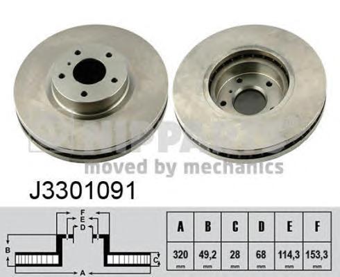 Диск тормозной Nipparts J3301091 комплект 2 штJ3301091