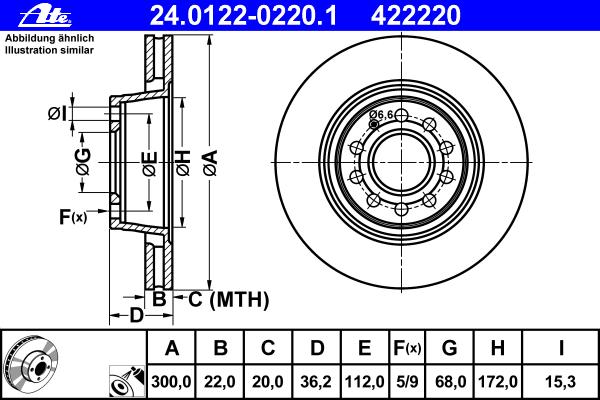 Диск тормозной Ate 24012202201 комплект 2 шт24012202201