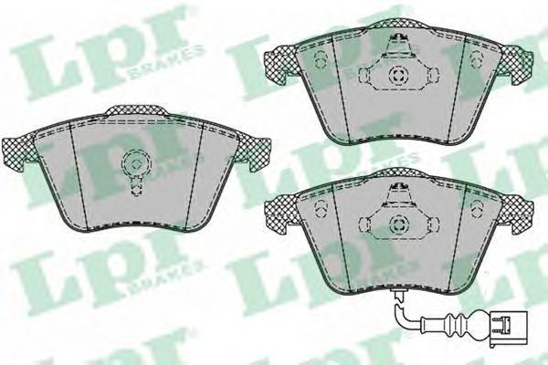 LPR / AP Колодки тормозные дисковые комплект. 05P1384 lpr 01031 lpr комплект тормозных колодок стояночная тормозная система