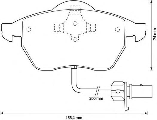 Колодки тормозные передние, с датчиком Jurid 571982J571982J