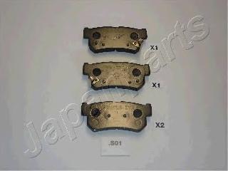 Колодки тормозные дисковые Japanparts PPS01AFPPS01AF