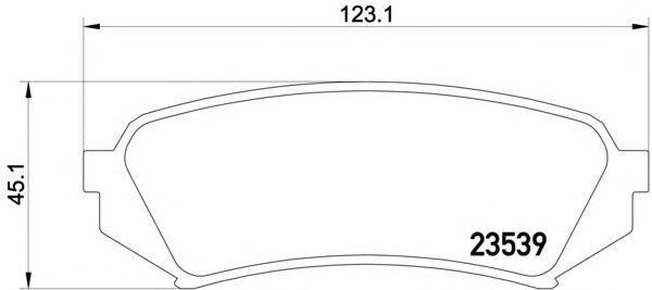 Колодки тормозные Textar 23539022353902
