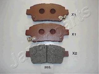 Колодки тормозные дисковые Japanparts PA203AFPA203AF