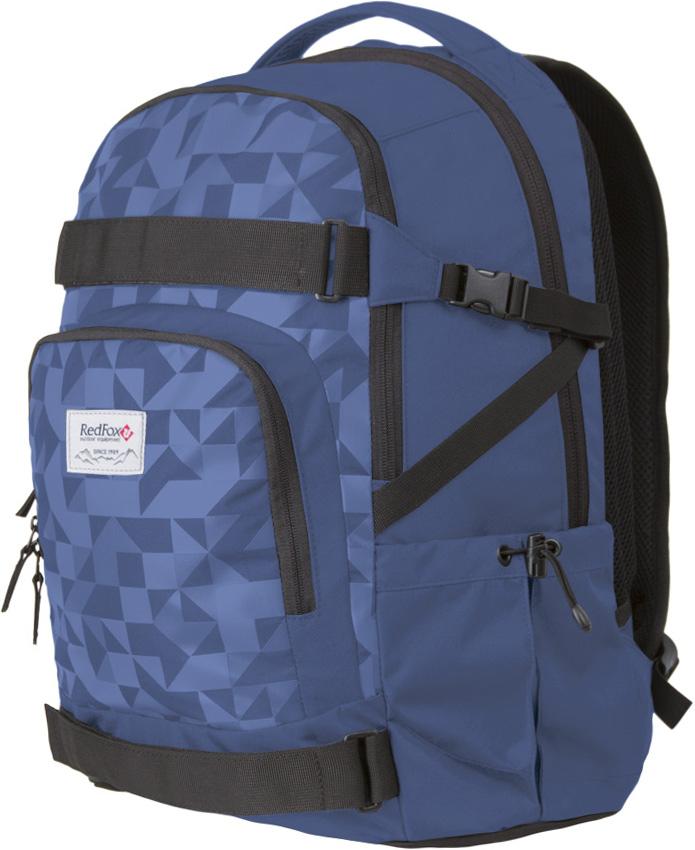 Рюкзак Red Fox  Street V2 , цвет: черный, синий, 29 л - Туристические рюкзаки