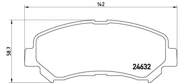 Колодки тормозные передние Brembo P56062P56062
