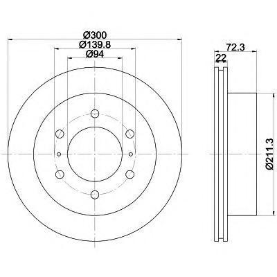 Диск тормозной задний вентилируемый Textar 92135103 комплект 2 шт92135103