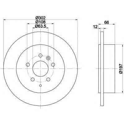 Диск тормозной задний Textar 92162703 комплект 2 шт92162703