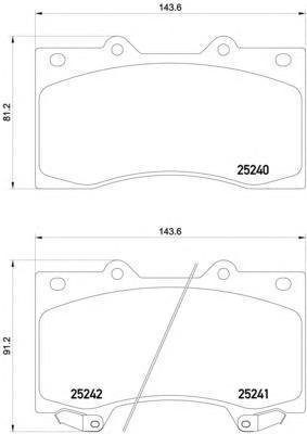 Колодки тормозные передние Textar 25240012524001