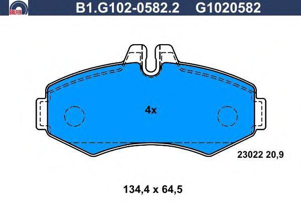 Колодки тормозные дисковые Galfer B1G10205822B1G10205822