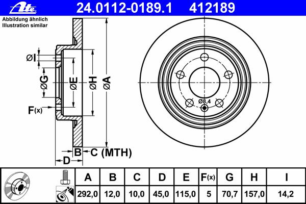 Диск тормозной Ate 24011201891 комплект 2 шт24011201891