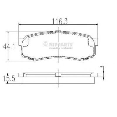 Колодки тормозные задние Nipparts J3612010J3612010