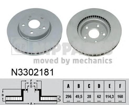 Диск тормозной Nipparts N3302181N3302181