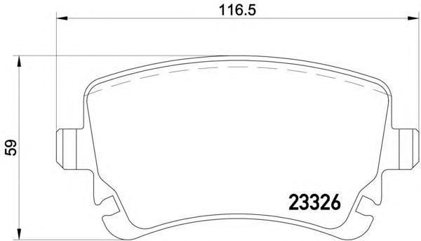 Колодки тормозные задние Textar 23326012332601
