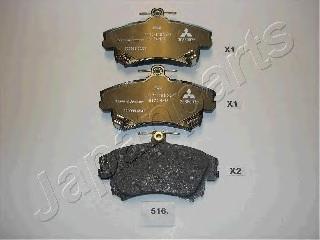 Колодки тормозные дисковые Japanparts PA516AFPA516AF