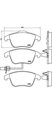Колодки тормозные передние Brembo P85113P85113