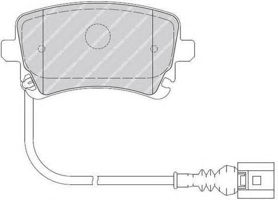 Колодки тормозные дисковые Premier Ferodo FVR1644FVR1644