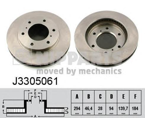 Диск тормозной передний Nipparts J3305061 комплект 2 штJ3305061