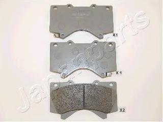 Колодки тормозные дисковые Japanparts PA272AFPA272AF