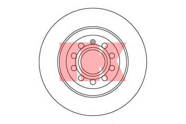 Диск тормозной NK 2047109 комплект 2 шт2047109
