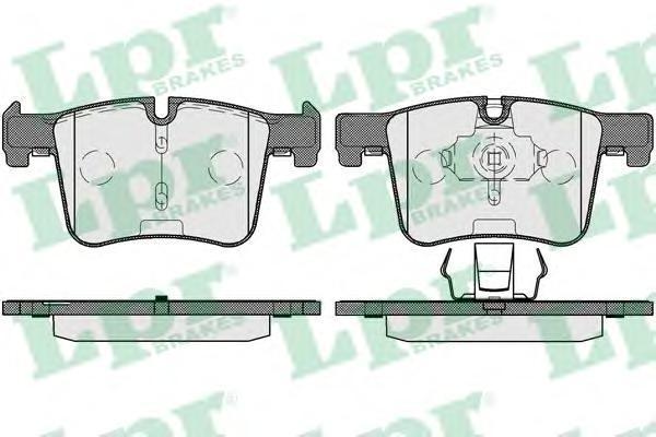 Колодки тормозные передние LPR / AP 05P173205P1732