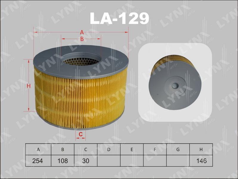 Фильтр воздушный Lynx LA129 фильтр воздушный lynx la113