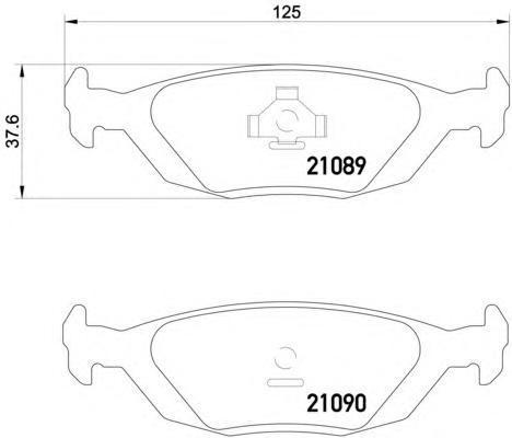 Колодки тормозные SAAB 9000 задние Textar 21089022108902